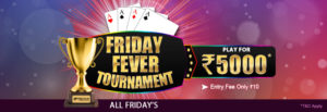 Friday Fever Rummy Tournament @ KhelPlayRummy.com