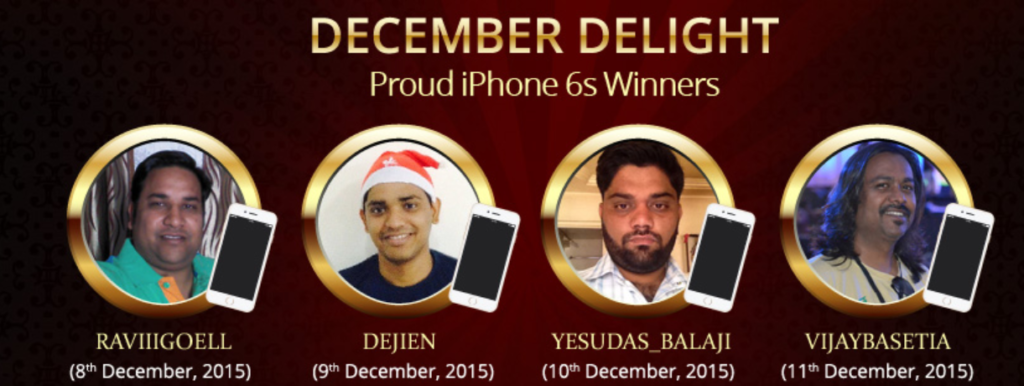 December Delight iphone Winners