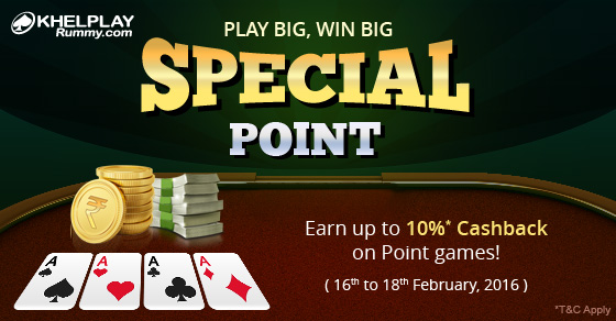 Special Offer on Points Rummy