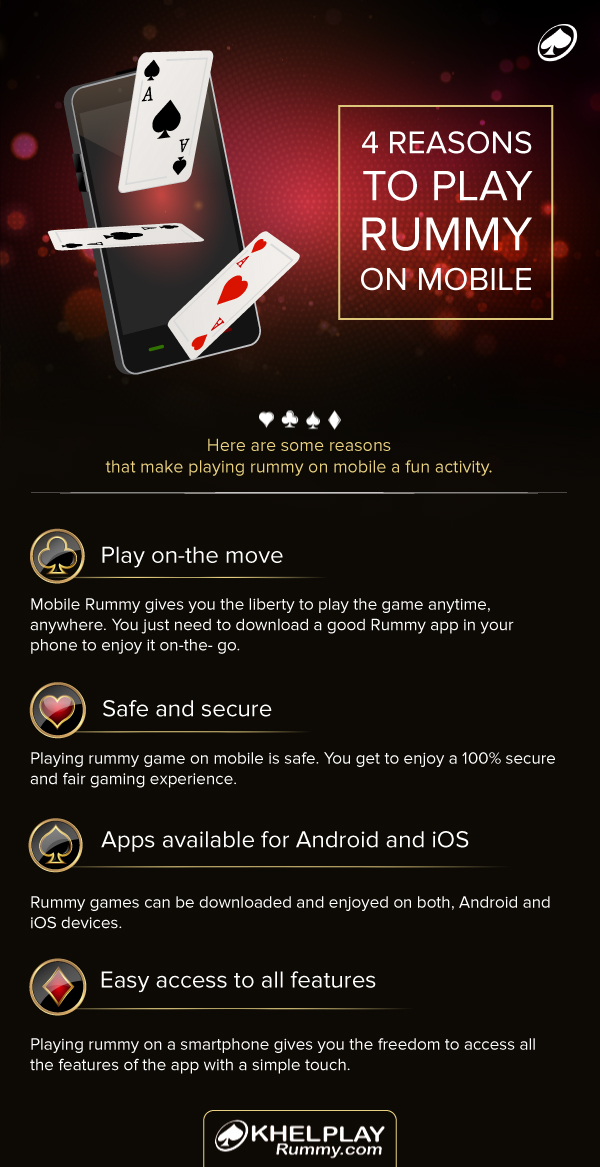 4Reasons to play Rummy on Mobile
