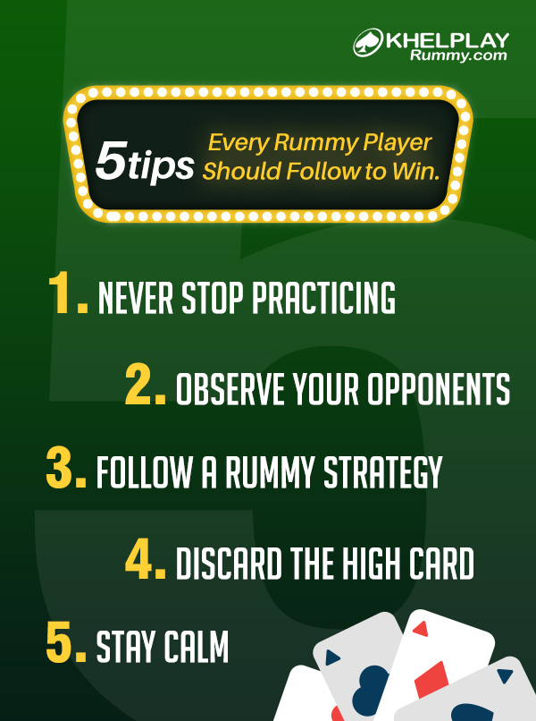 5 Tips Every Rummy Player Should Follow to Win